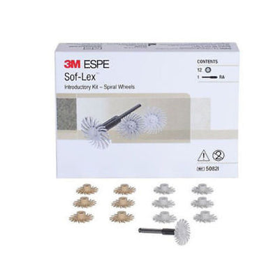 3M Espe Sof-Lex intro kit spriral finishing wheel polishing 5082I - eLynn Medical