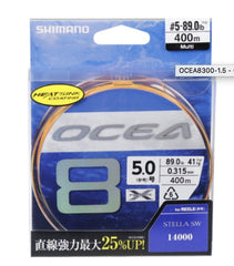 SHIMANO OCEA 8 BRAID - PE2 41LB 300M MULTI