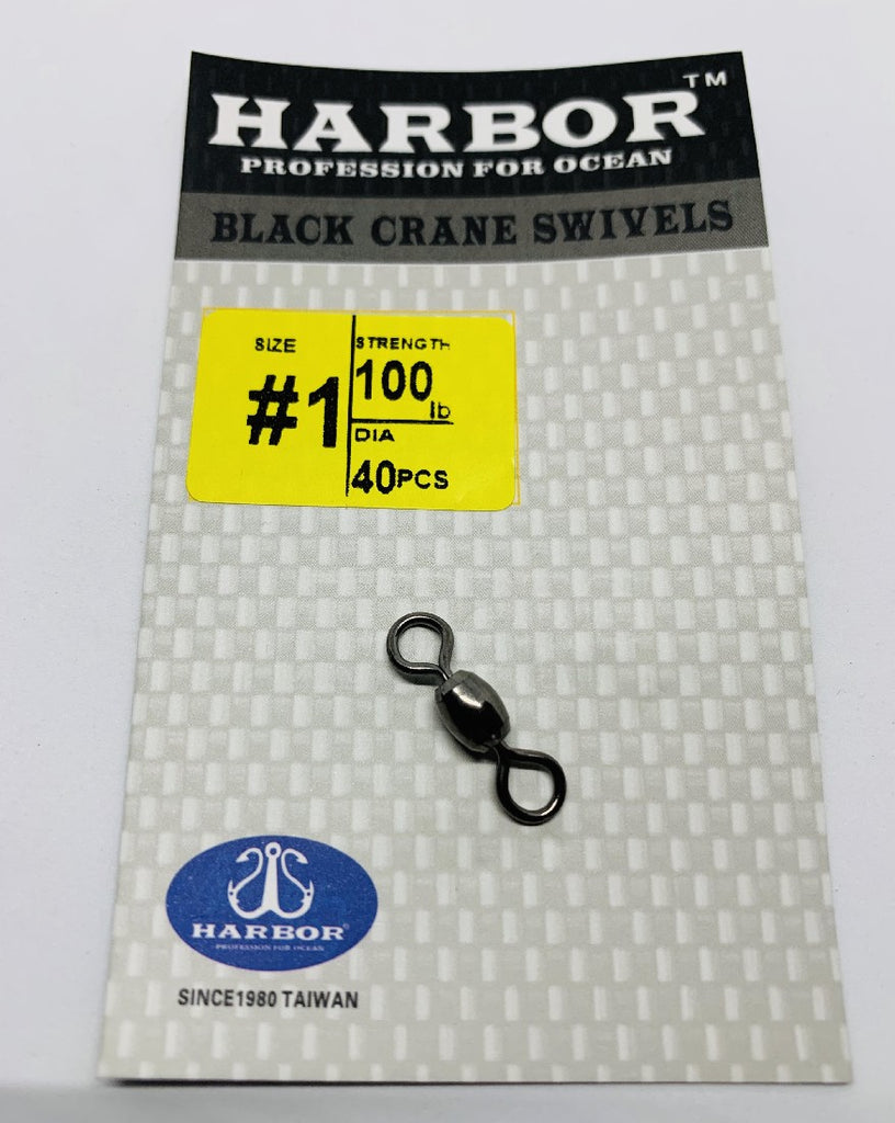 HARBOR BLACK CRANE SWIVEL SIZE 1 100LB 40PCS