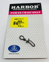 HARBOR POWER TWIST SNAP SIZE #3 78LB 12PCS