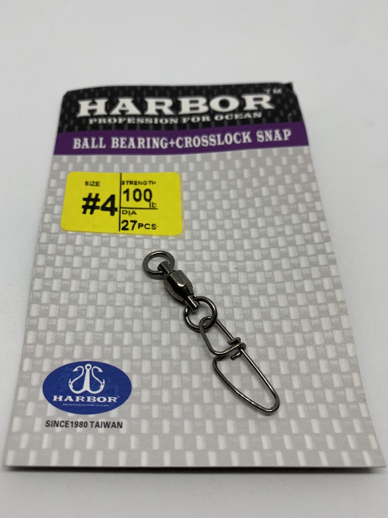 HARBOR BALL BEARING + CROSSLOCK SNAP SIZE #5 120LB 24PCS