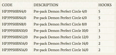 MUSTAD 39950NPBN 14/0 DEMON CIRCLE HEAVY PRE PACK