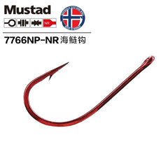 MUSTAD 7766NPNR 5/0 RED TARPON HOOK PRE PACK