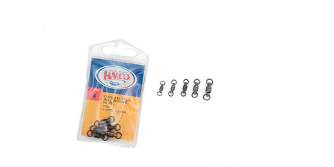 HALCO S/S BALL BEARING SWIVEL SIZE 0 65LB -5PCS