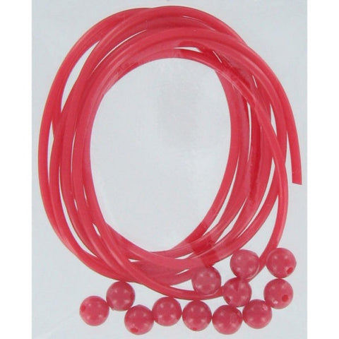 SHOGUN RED TUBE & BEADS SIZE 1M QTY1