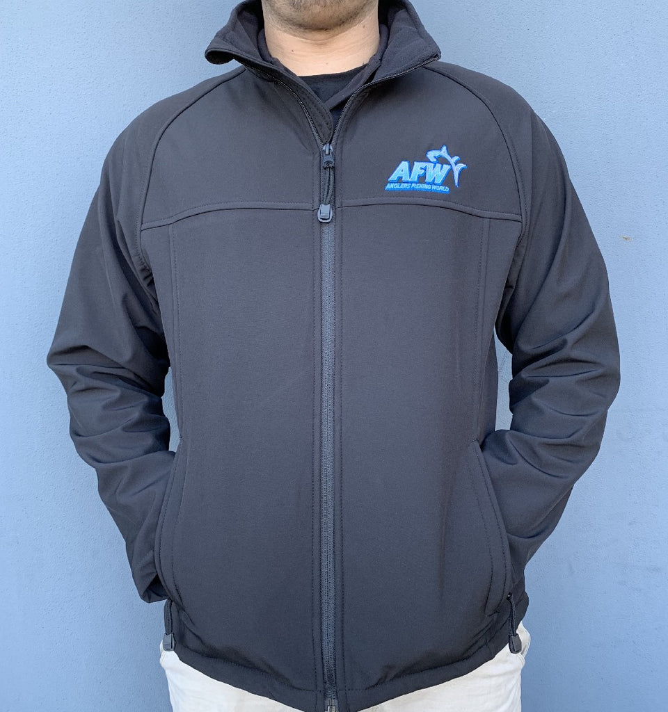AFW SOFT SHELL JACKET BLACK -XLARGE