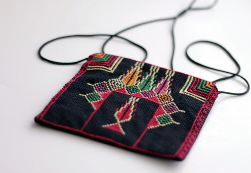 Colourful Handmade Embroidery Side Bag