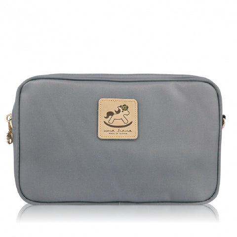 Uma hana Premium Monochrome Rectangular Shoulder Bag Grey