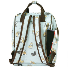 Load image into Gallery viewer, Frame Backpack M Baby Corgi Sky Blue