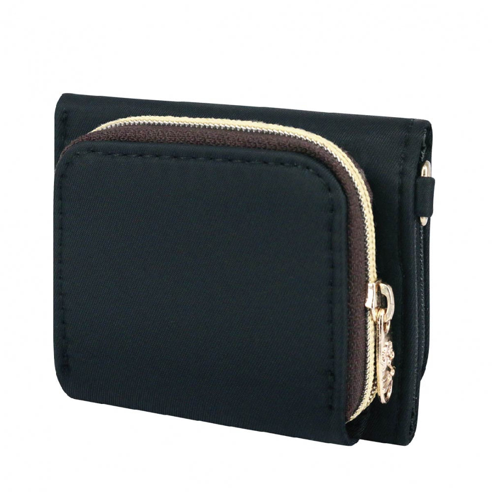 Uma hana Premium Monochrome Mini Wallet Black