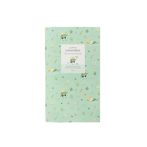 Indigo Pattern Slim Notebook Line Mint