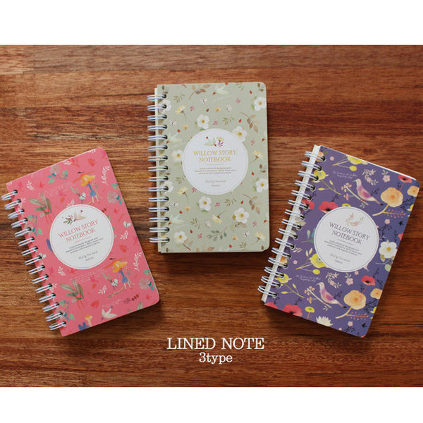 [Back to School Sale]  Indigo WIllow Spring Note Lined S