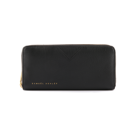 Samuel Ashley Lia Zip Around Wallet Black