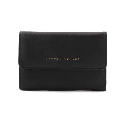 Samuel Ashley Olivia Trifold Wallet Black