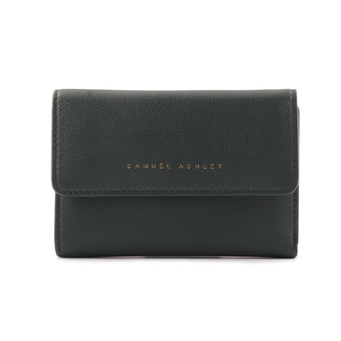 Samuel Ashley Olivia Trifold Wallet Dark Green