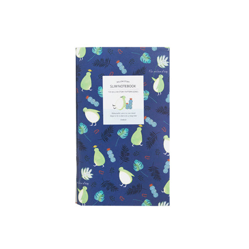 Indigo Pattern Slim Notebook Square Navy