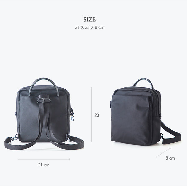 ITHINKSO 3Way Mini Backpack Black