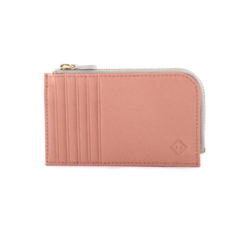 Samuel Ashley Peyton Card Case with Zip Pocket Ash Rose ( New Collection)