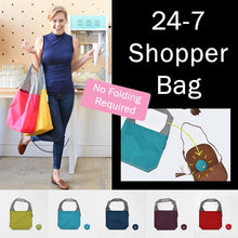 Load image into Gallery viewer, Flip and Tumble 24-7 Shopping Bag Navy
