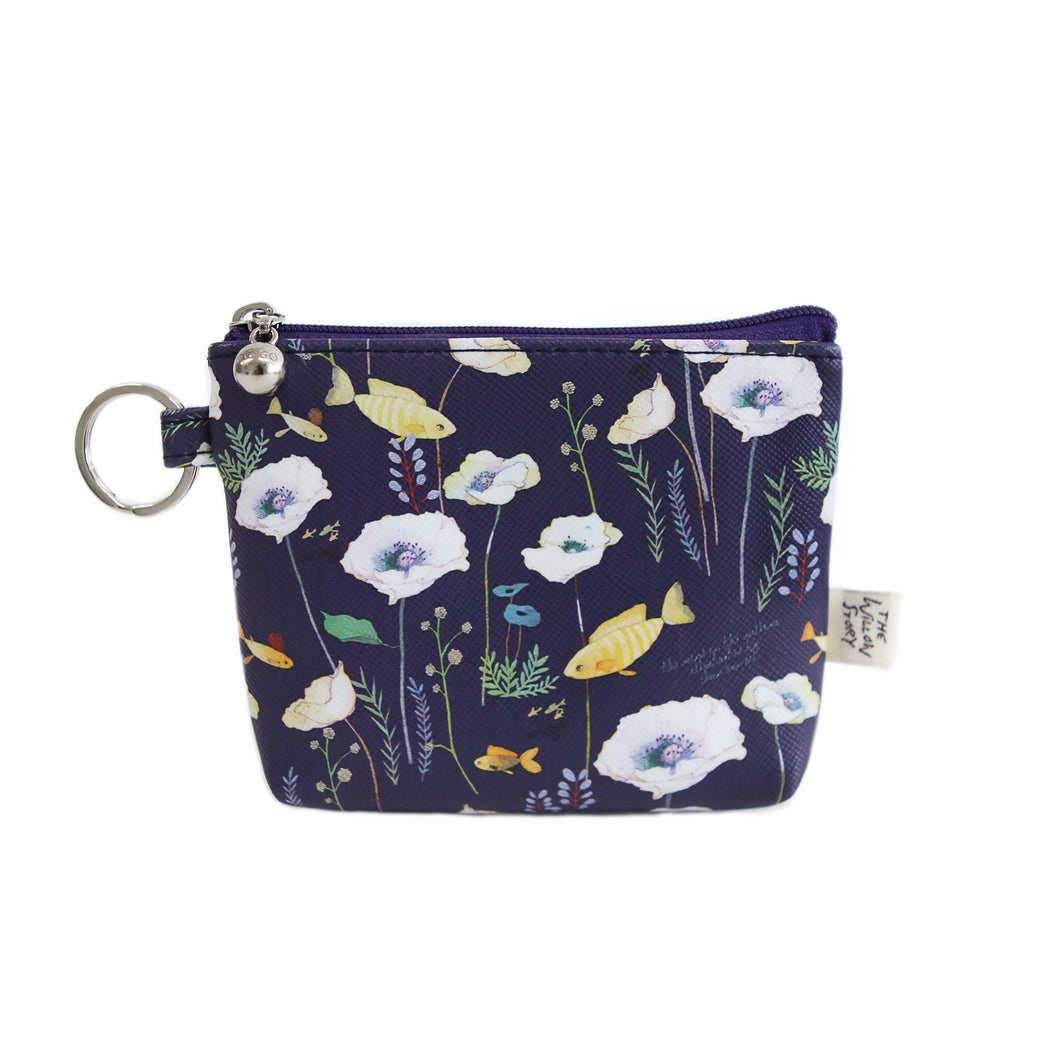 Indigo Willow Story Coin Purse Navy