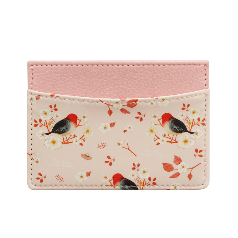 Indigo WIllow Pattern Card Case Pink