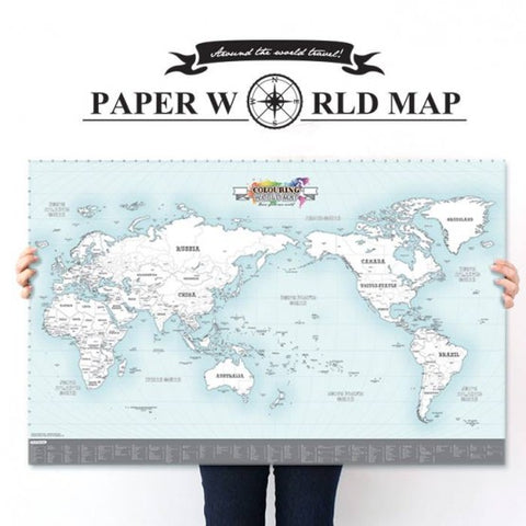 Indigo Paper World Map Colouring