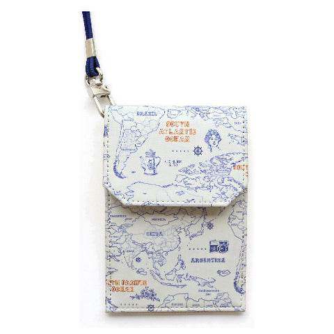 Indigo Indimap Neck Card Pocket Line
