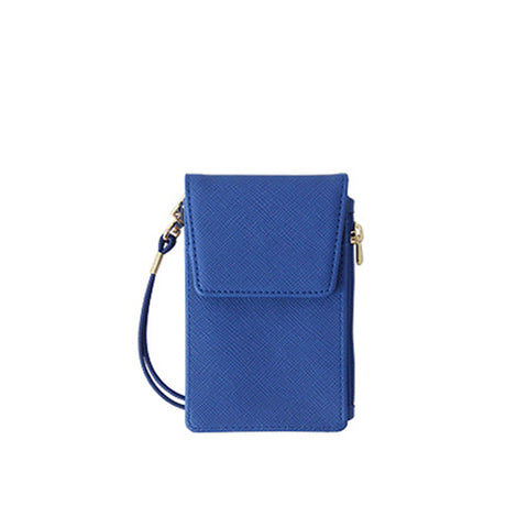 Indigo THE BASIC Prism Neck Zipper Wallet Blue