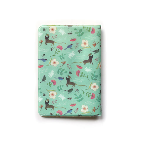 Indigo Willow Soft Passport Cover Mint Cat