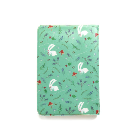 Indigo Willow Soft Passport Cover Mint Rabbit