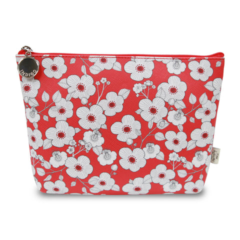 Indigo Willow V.4 Pouch Red Flower