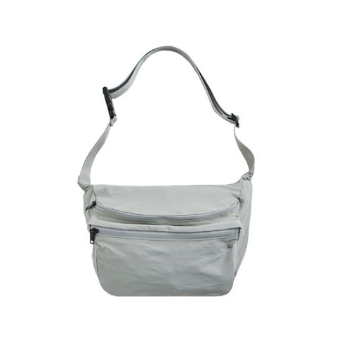 ITHINKSO Matt Cross X Shoulder Bag Light Grey