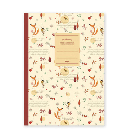 Indigo Willow Story Pattern Line Notebook Beige