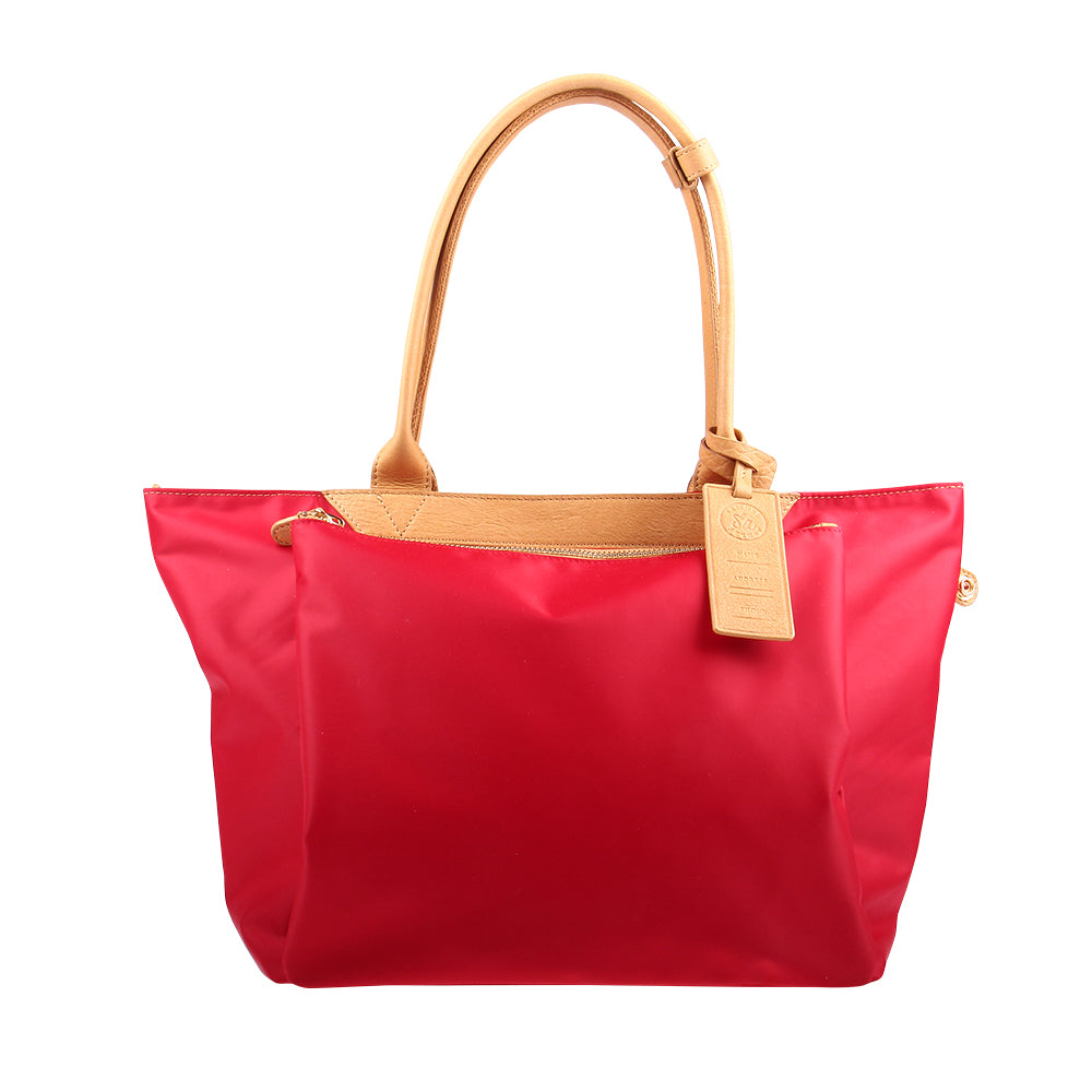 Samuel Ashley Paisley Foldable Totebag Red