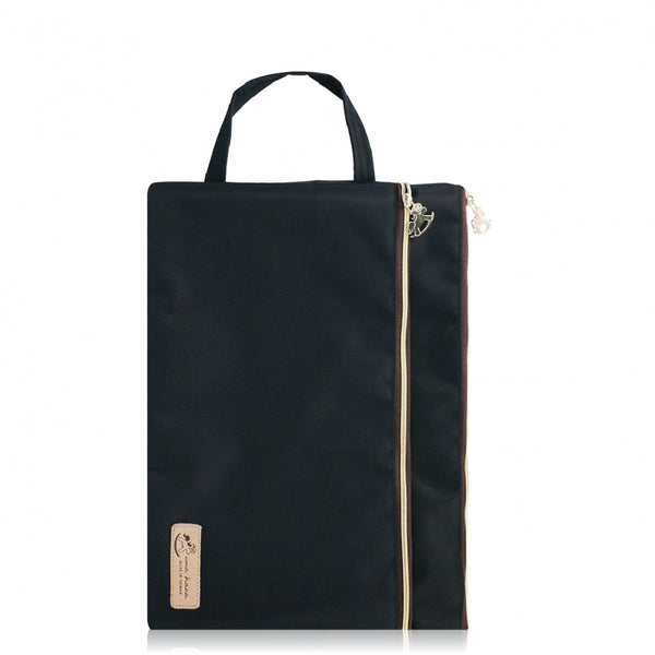 Uma hana Premium Monochrome A4 File Bag Black