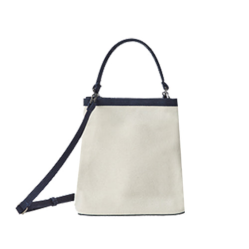 ITHINKSO Canvas Bucket Bag Natural
