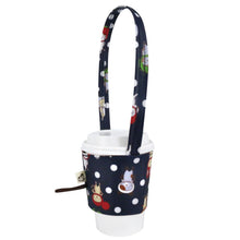 Load image into Gallery viewer, Drink Cup Holder Cat Hat Navy