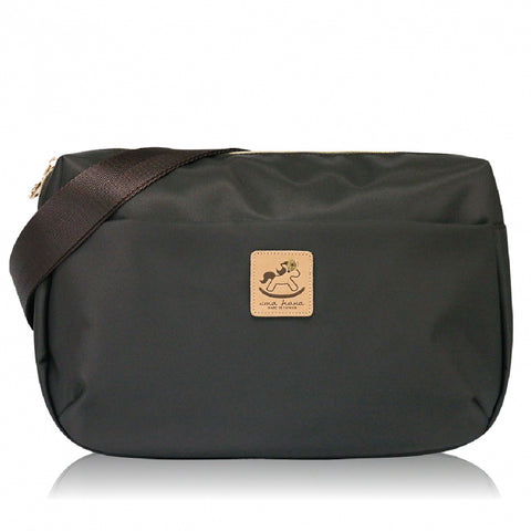 * Website Exclusive * Uma hana Premium Monochrome Ship Type Shoulder Bag Coffee Black