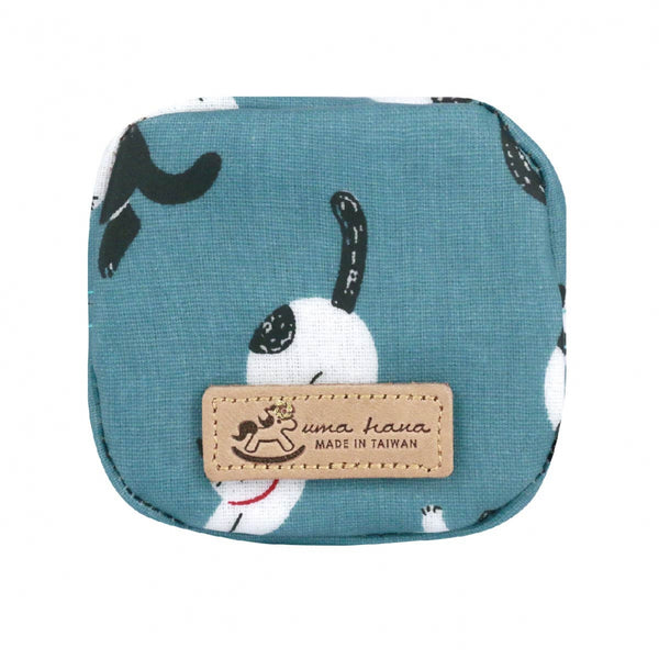 Uma hana Box Coin Purse Sleeping Cat Blue