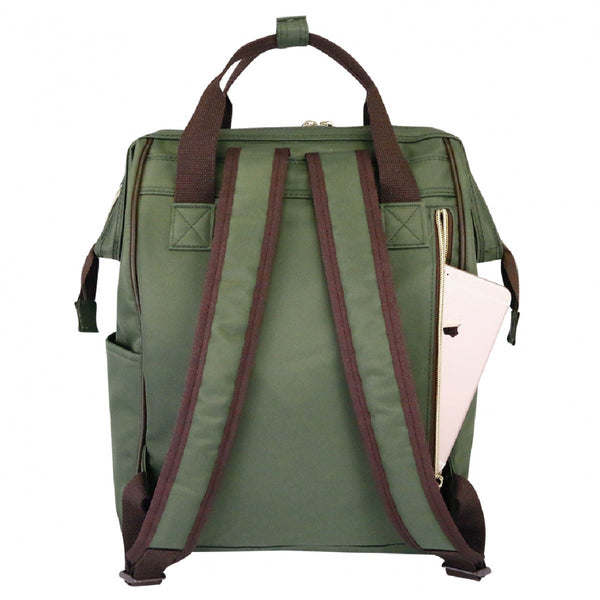 Uma hana Large Frame Backpack ( Large Opening Backpack) Khaki