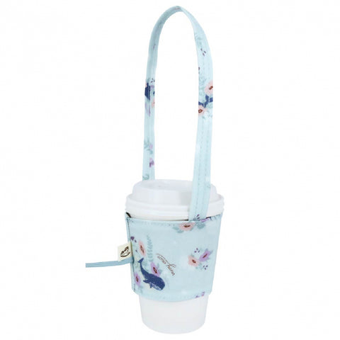 Uma hana Drink Cup Holder Dolphin Sky Blue