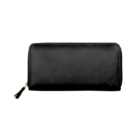 Samuel Ashley Main Zip Around Long Wallet Black