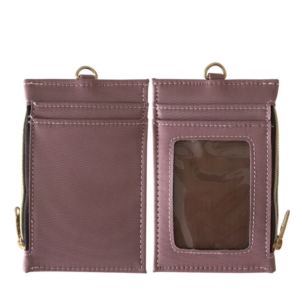 Neck Zipper Case with Lanyard  Dusty Premium Pink
