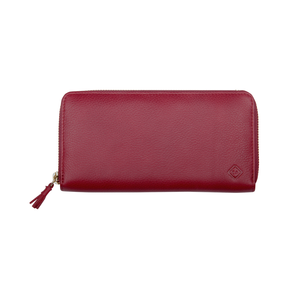 Samuel Ashley Main Zip Around Long Wallet Lipstick