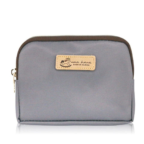 Uma hana Premium Monochrome Cube Coin Purse Grey