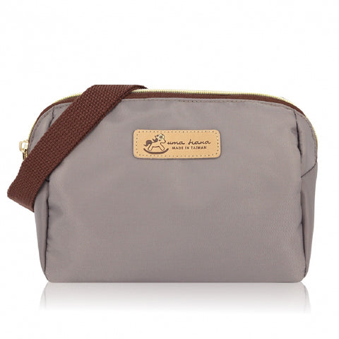 * Website Exclusive* Uma hana Premium Monochrome Mufe Crossbody Bag Grey