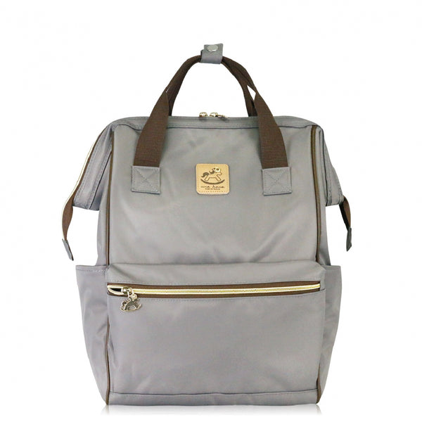 Uma hana Large Frame Backpack ( Large Opening Backpack) Grey