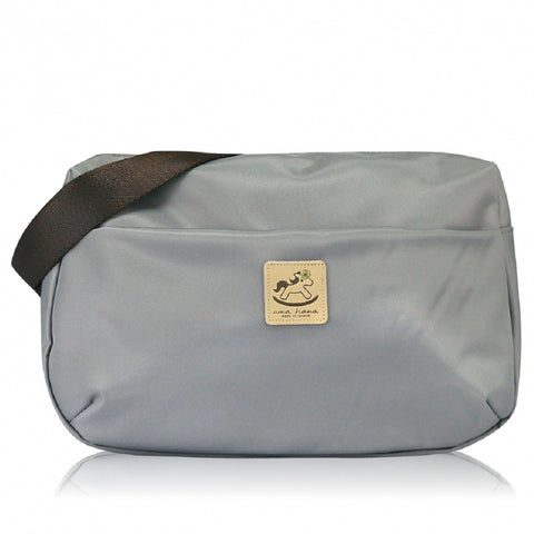 * Website Exclusive * Uma hana Premium Monochrome Ship Type Shoulder Bag Grey