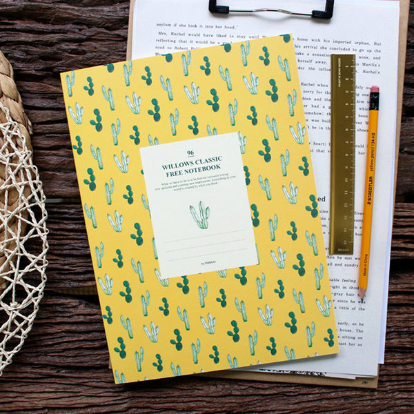 Indigo Willow Story Pattern Line Notebook Yellow