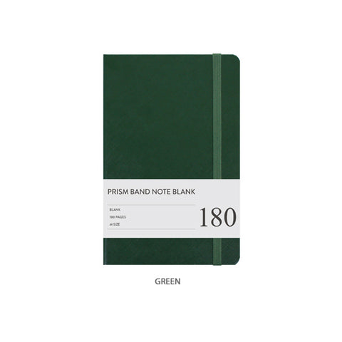 Indigo Prism Band Notebook Blank Green